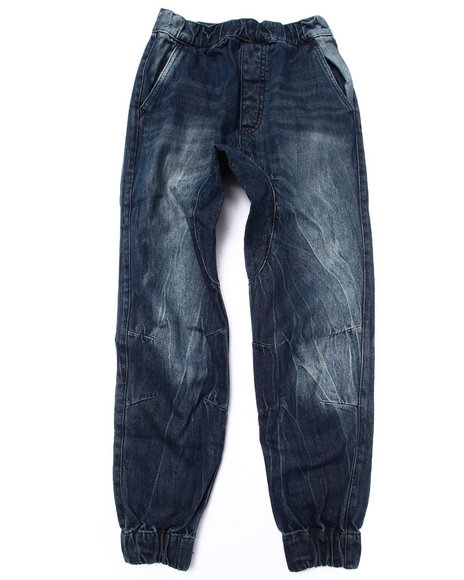 Akademiks - Boys Dark Wash Denim Joggers (8-20)