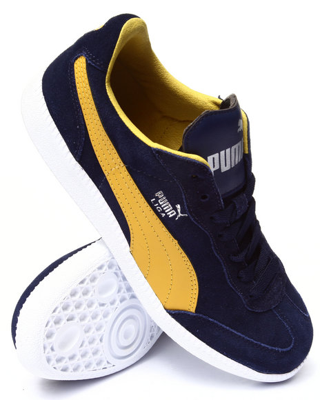 Puma - Men Navy,Yellow Liga Sneakers