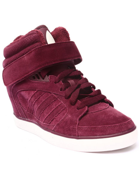 Adidas - Women Maroon Amberlight Up Wedge Sneakers