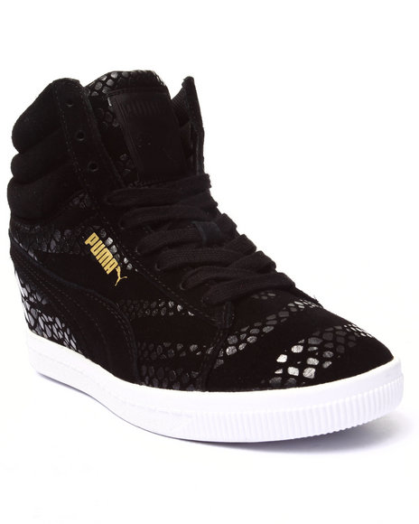 Puma - Women Black Pc Wedge Wr Wns Sneakers
