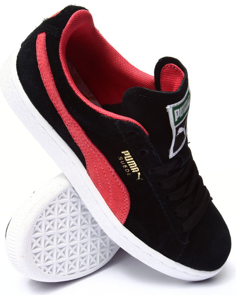 Puma - Women Black,Pink Suede Classic Wns Sneakers