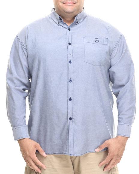 Rocawear - Men Blue Utility L/S Button-Down (B&T)