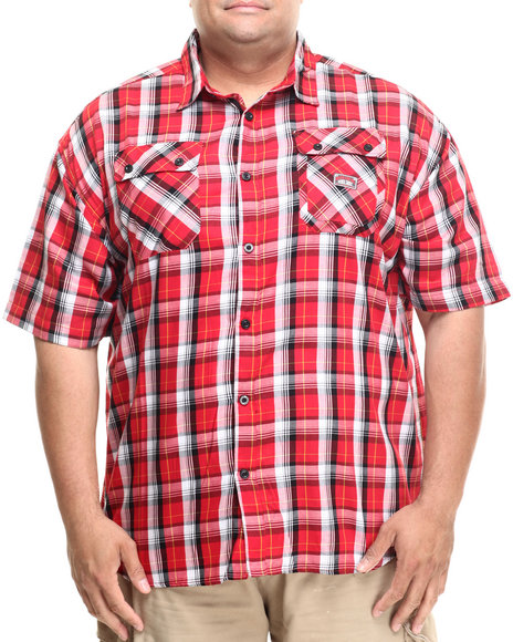 Rocawear - Men Black,Red Medium 2 S/S Button-Down (B&T)