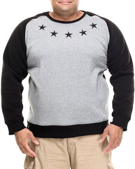 Ur-ID 185586 Enyce - Men Black,Grey Wolf Raglan Sweatshirt (B&T)
