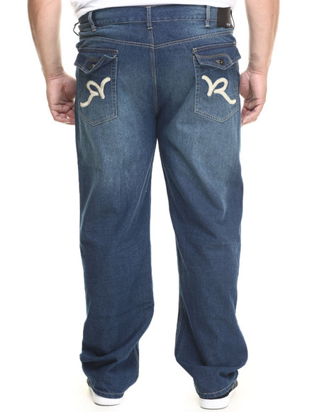 Rocawear - Men Medium Wash R Flap Denim Jeans (B&T)