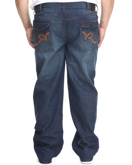 Rocawear - Men Dark Wash P U Back Pockets Denim Jeans (B&T)