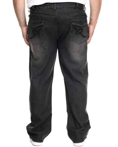 Rocawear - Men Black R Flap Denim Jeans (B&T)