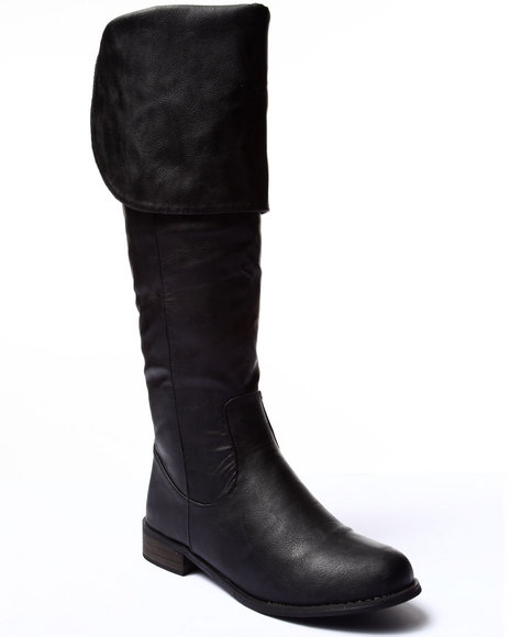 Ur-ID 185113 Fashion Lab - Women Black Sandara Over The Knee Boot