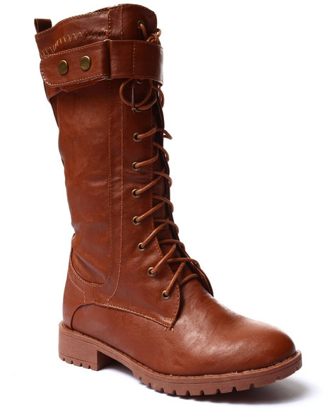 Ur-ID 185114 Fashion Lab - Women Brown Tonia Lace Up Boot