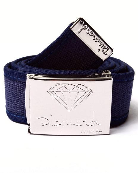 Diamond Supply Co Men Og Logo Clamp Belt Navy