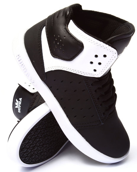 Supra - Boys Black Atom Sneakers (1-6)