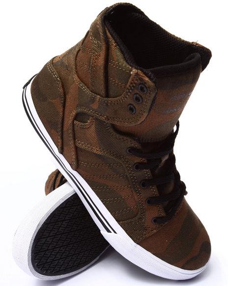 Supra - Boys Camo Skytop Sneakers (1-6)