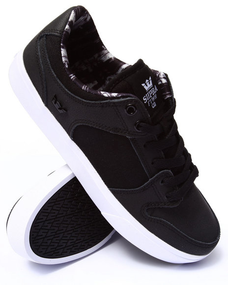 Supra - Men Black Vaider Lc Black Oiled Nubuck Sneakers