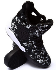 Supra - Skytop IV Black and White Printed Hairy Suede Sneakers