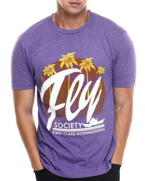 Flysociety - Men Purple Moonrise T-Shirt