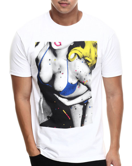 Flysociety - Men White Confetti T-Shirt