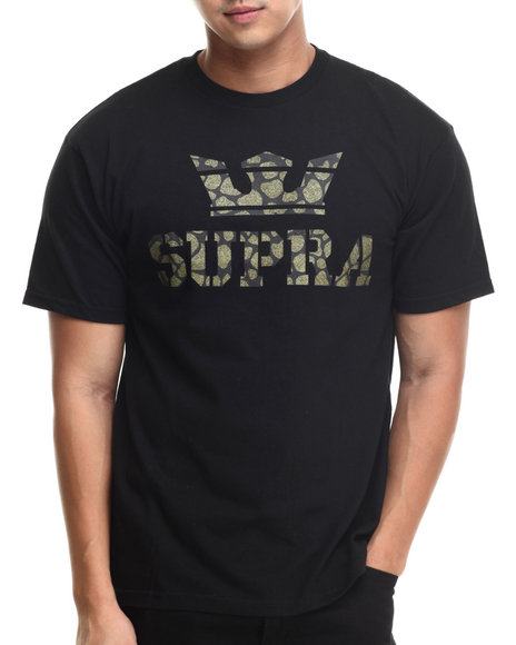 Supra - Men Black,Camo Above Tee