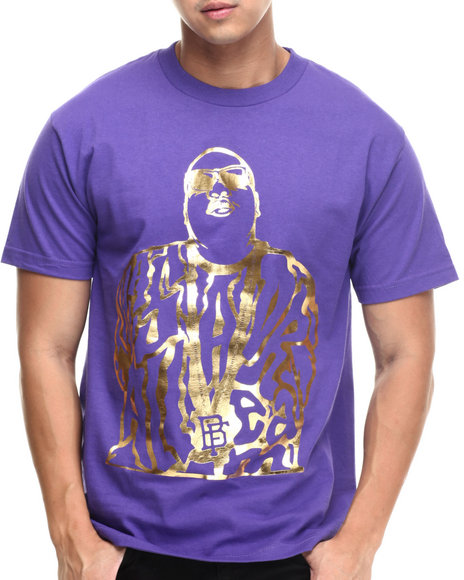 Buyers Picks - Men Purple Bobby Fresh - Dream Big Foil S/S Tee - $12.99