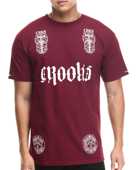 Crooks & Castles Maroon T-Shirts