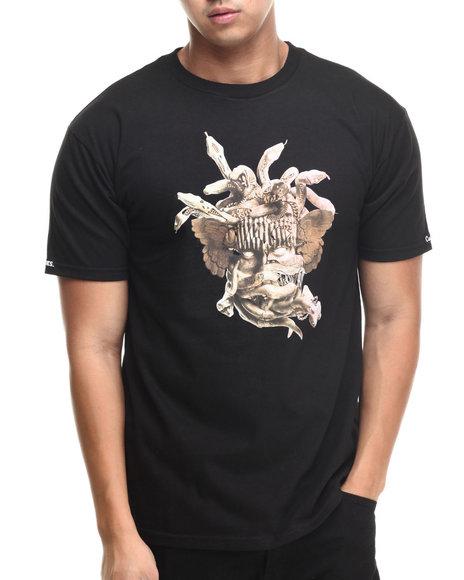 Crooks & Castles - Men Black Composite Medusa T-Shirt - $30.00