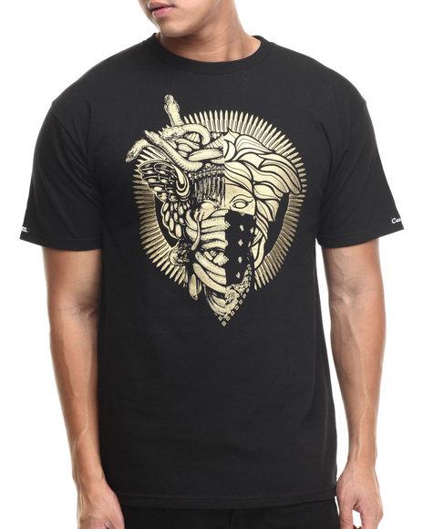 Crooks & Castles - Men Black 2 Faced Medusa T-Shirt - $30.00