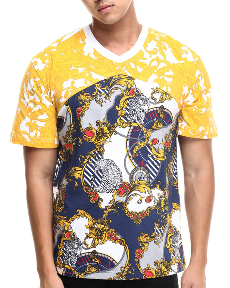 Eight 732 - Men Navy,Yellow Royal Lux T-Shirt