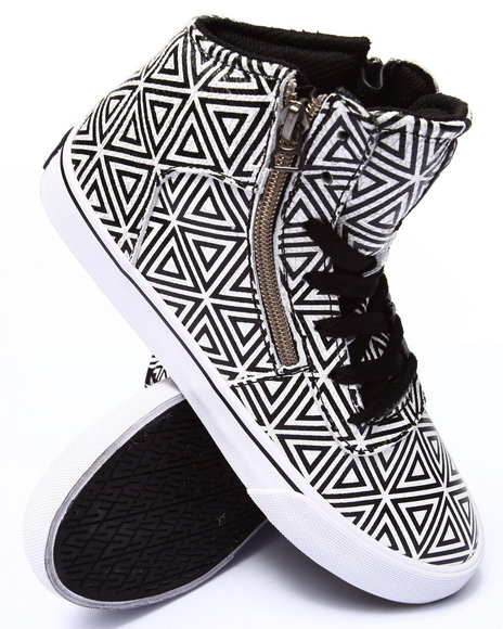 Supra - Women Black,White Cuttler Diamond Print Sneaker