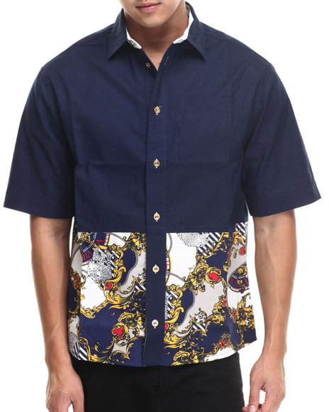 Eight Navy Button-Downs