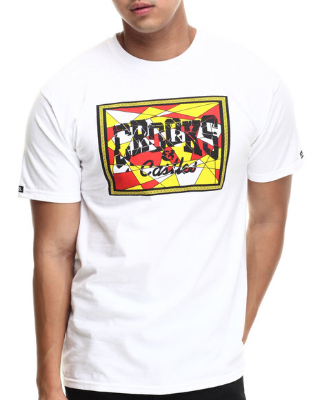 Crooks & Castles - Men White Core Logo Mosaic T-Shirt - $19.99
