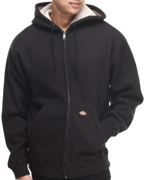 Ur-ID 185641 Dickies - Men Black Sherpa Lined Knit Hoodie