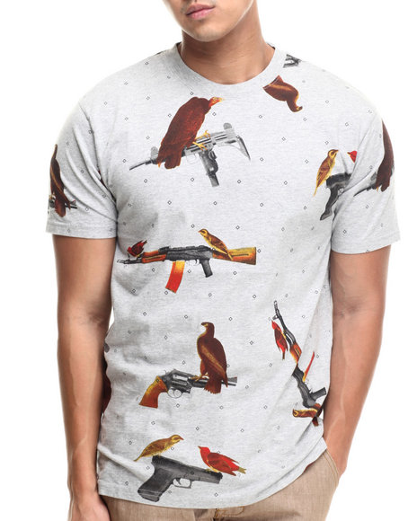 Crooks & Castles - Men Grey Birdtrap T-Shirt
