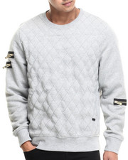 Men - High Bridge Quilted Fleece crewneck sweatshirt