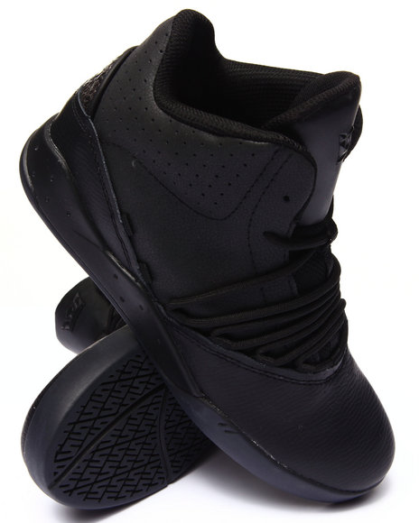 Supra - Men Black Estaban Black Leather Sneakers