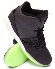 Supra - Estaban Grey and Charcoal Leather Sneakers