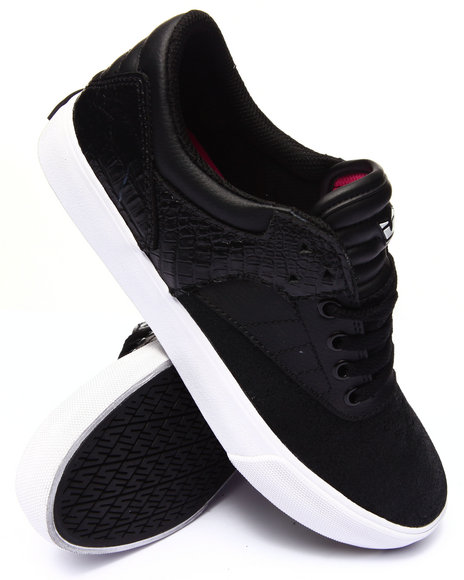 Supra - Men Black Griffin Black Suede/Leather Sneakers