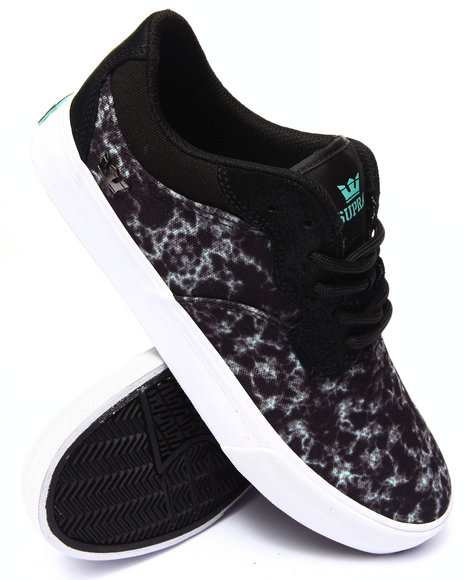Supra - Men Camo Axle Black Water Camo Sublimated Suede Sneakers