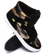 Women - Vaider Gold Foil Croc Print Sneaker