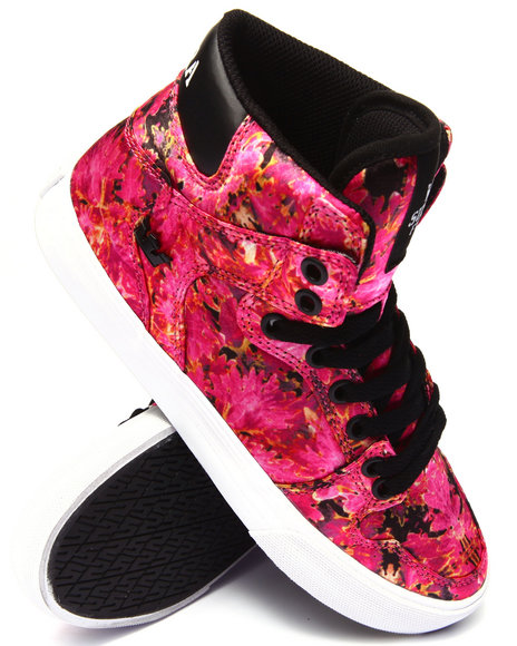 Supra - Women Pink Vaider Pink Orchid Print Nylon Sneaker