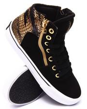 Women - Cuttler Gold Foil Croc Suede Sneaker