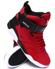 Footwear - Bleeker Red/Black Leather Sneakers