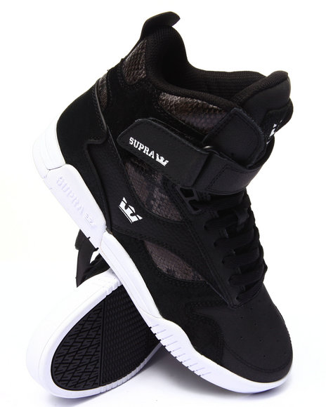Supra - Men Black Bleeker Black Leather/Suede Sneakers