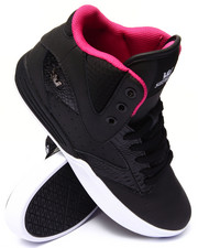 Supra - Khan Black Crocodile Embossed Leather Sneakers