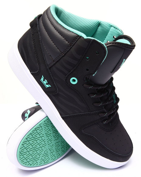 Supra - Men Black Sphinx Black Leather Sneakers