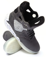 Supra - Skytop IV Grey Tumbled Leather Sneakers