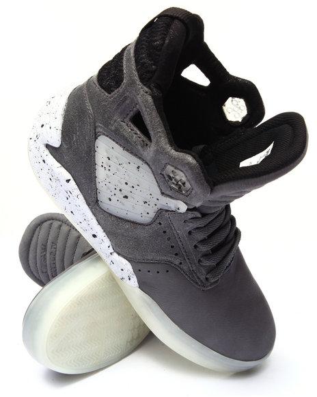 Supra - Men Grey Skytop Iv Grey Tumbled Leather Sneakers