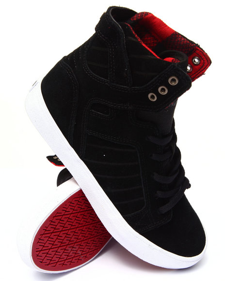 Supra - Boys Black Skytop Sneakers (1-6)