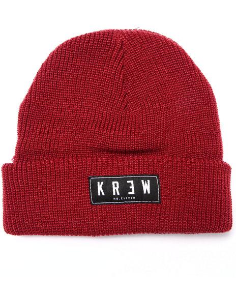 Kr3w Men Cuff Beanie Red