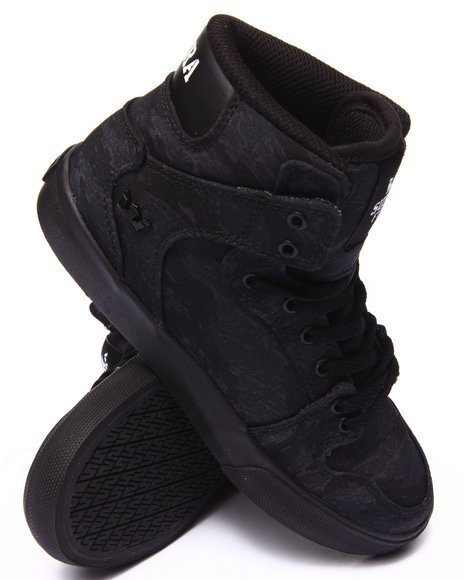 Supra - Boys Black Vaider Sneakers (1-6)
