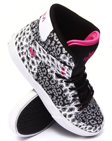 Supra - Girls Black Vaider Sneakers (1-6)