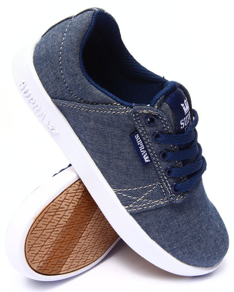 Supra - Boys Medium Wash Westway Chambray Sneakers (1-6)